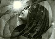 Thermonucear goddess - 01-06-16 (sold). Corné Akkers Kunstwerken