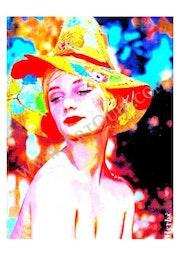 «Helen, nu timide en chapeau de paille». Julien Herbé