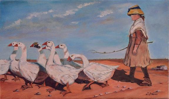 La petite gardienne d'oies. Jean Dreano Jean Dreano