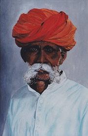 Portrait d'un indou du Rajhastan. Jean Dreano